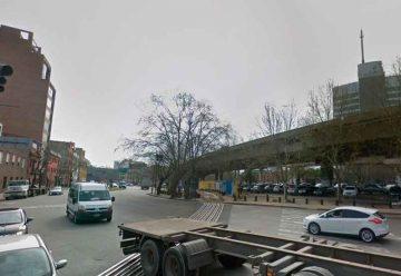 Cortes de tránsito en las cercanías de avenidas Huergo y Brasil