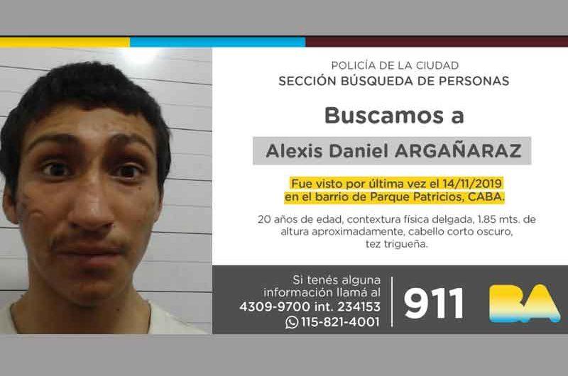 Búsqueda de persona – Alexis Daniel Argañaraz