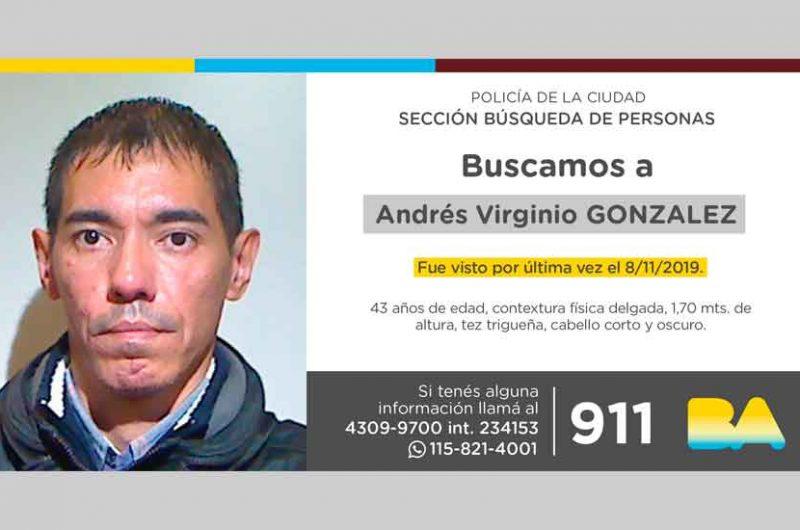 Búsqueda de persona – Andrés Virginio González