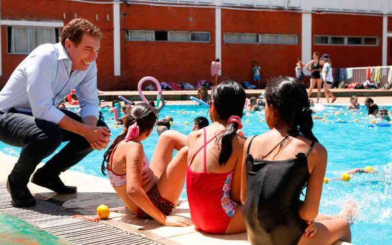 Diego Santilli inauguró la Colonia de Verano 2020
