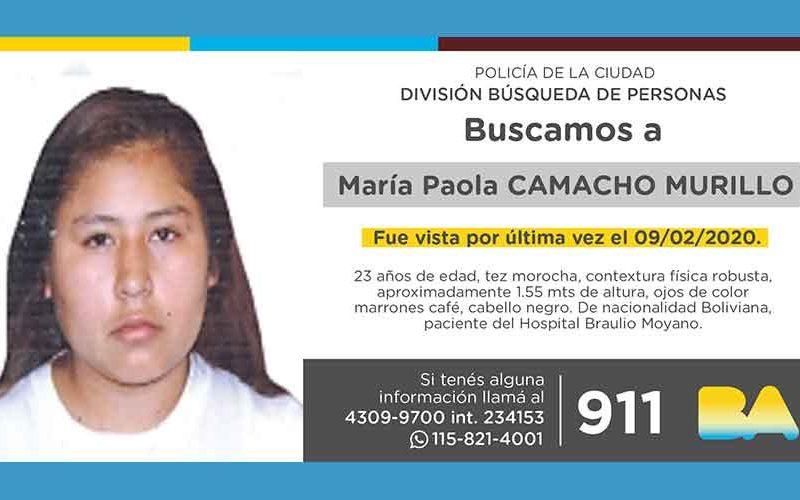 Búsqueda de persona – María Paola Camacho Murillo