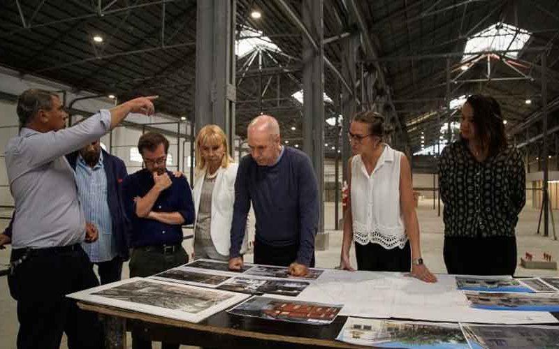 Larreta visitó el futuro depósito del Teatro Colón en La Boca