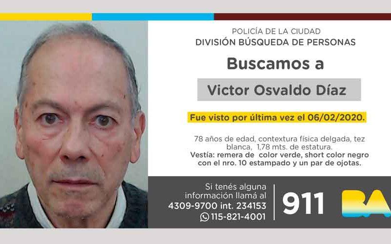 Búsqueda de persona – Víctor Osvaldo Díaz