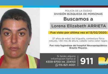 Búsqueda de persona - Lorena Elizabeth Arrieta