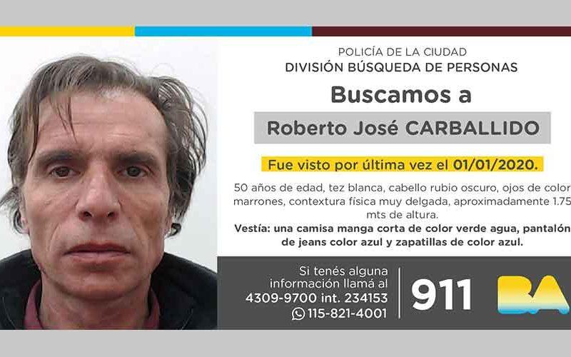 Búsqueda de persona – Roberto José Carballido