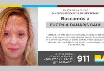 Búsqueda de persona – Eugenia Damaris Bahl