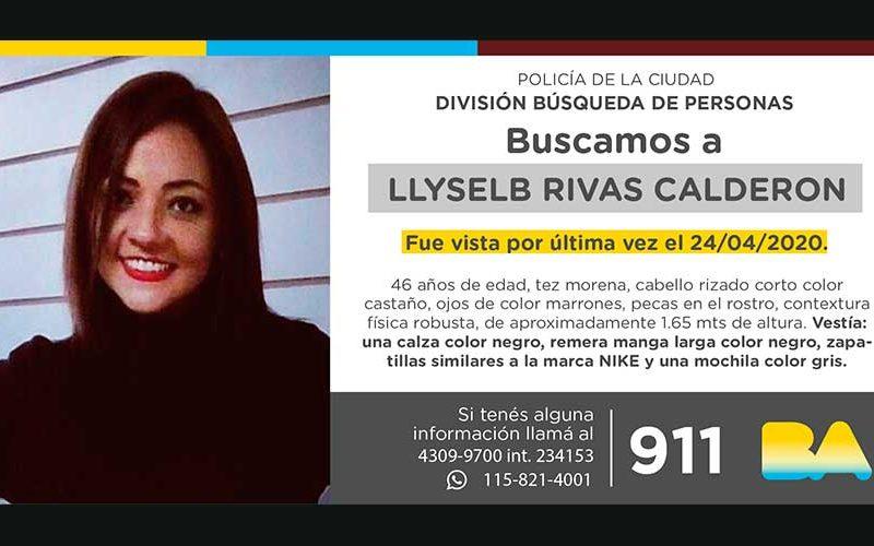 Búsqueda de persona – Llyselb Rivas Calderón