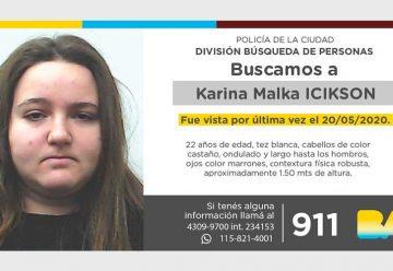Búsqueda de persona - Karina Malka Icikson