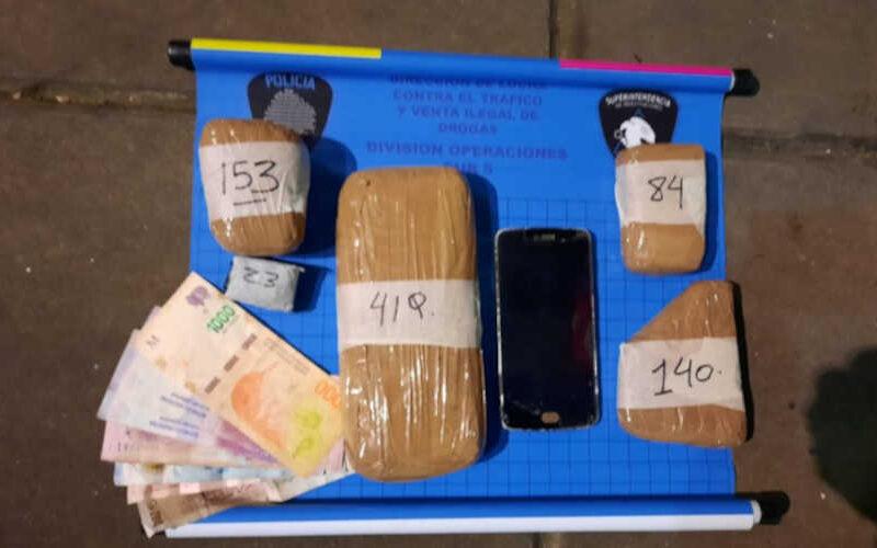 Policía de la Ciudad detuvo a Delivery de drogas.