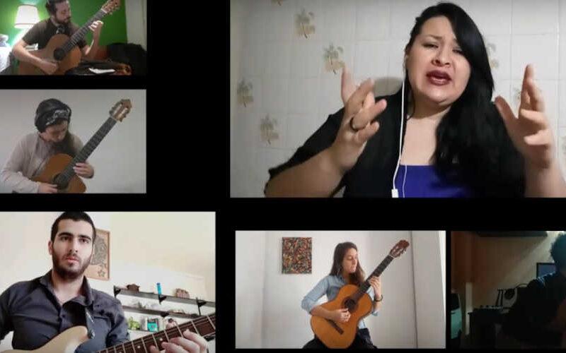 La Orquesta de tango del Conservatorio Manuel de Falla grabó videoclip virtual.