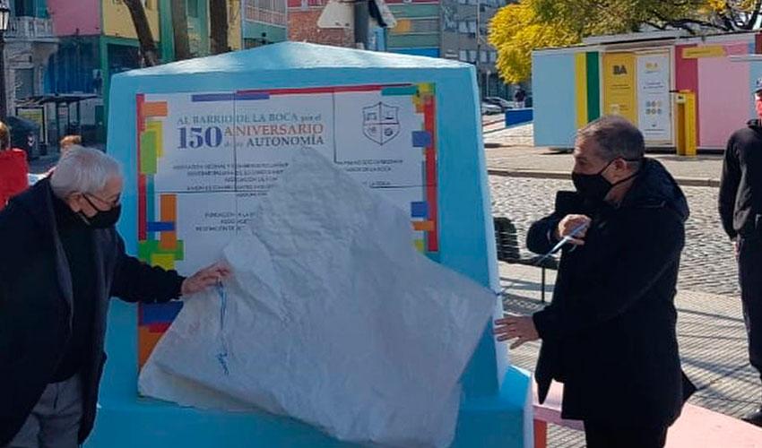 La Boca celebró ayer su aniversario 150