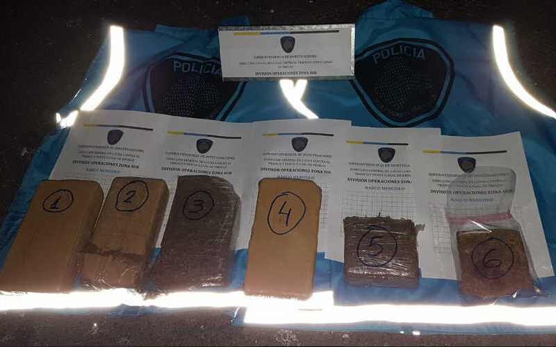 Policía de la Ciudad incautó más de 5kg. de marihuana en distintos Operativos