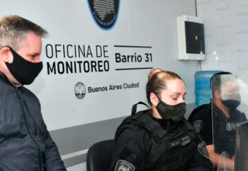 Presentaron la nueva Oficina de Monitoreo de Video Vigilancia en el Barrio 31
