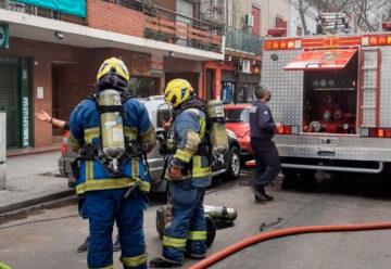 Principio de Incendio en un Comercio de la calle olavarría