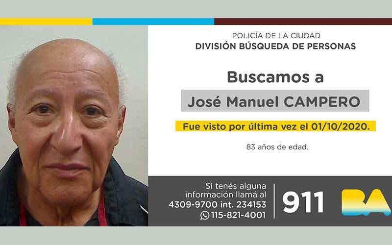 Búsqueda de persona – José Manuel Campero