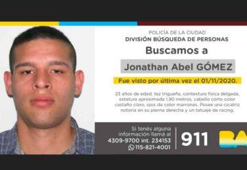 Búsqueda de persona - Jonathan Abel Gómez