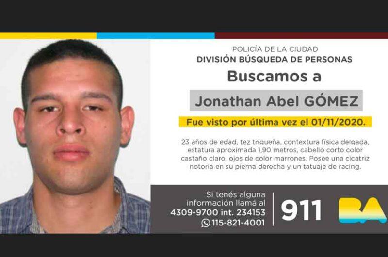 Búsqueda de persona – Jonathan Abel Gómez