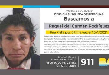 Búsqueda de persona - Raquel del Carmen Rodríguez