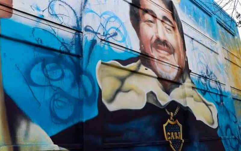 Un mural sobre Maradona se inaugurara en la Boca