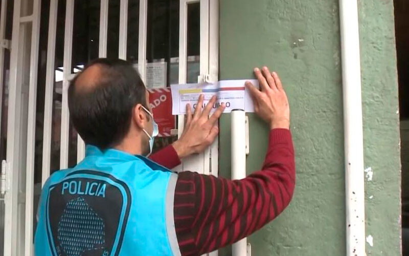 Dos agencias clandestinas de lotería fueron clausuradas