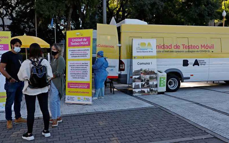 Ciudad: lanzan el sistema de testeo móvil en plazas por COVID-19