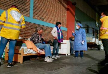 Vacunan contra la gripe a las personas en situación de calle