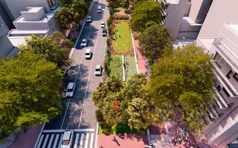 Se creará un parque sobre la avenida Honorio Pueyrredón