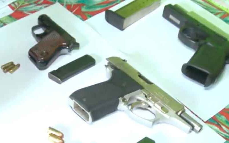 Allanamientos en el Barrio Zavaleta: armas  secuestradas