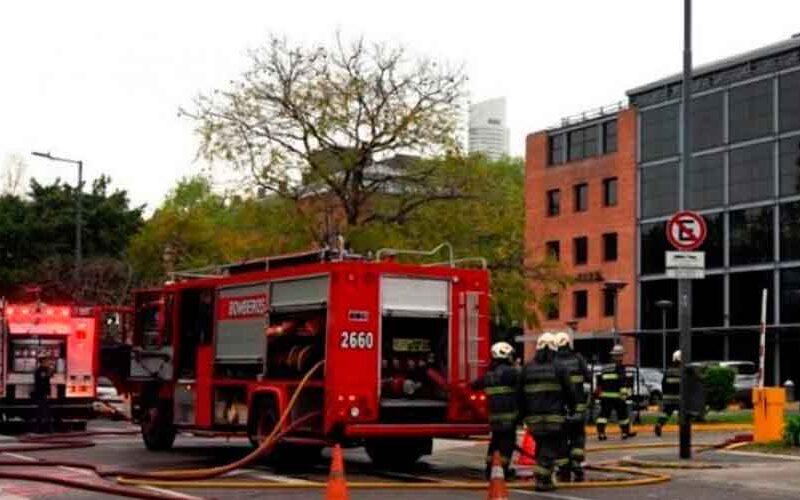 Incendio en un restaurante de Puerto Madero